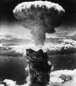 Atomic bomb drop over Hiroshima
